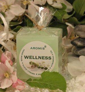 Aromatická svíčka Wellness kostka