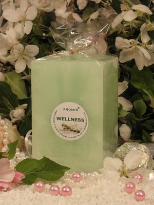 Aromatická svíčka Wellness hranol