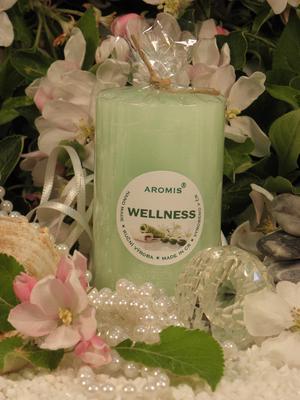 Aromatická svíčka Wellness válec