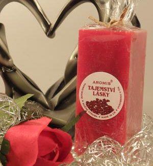 Aromatická svíčka Tajemství lásky hranol