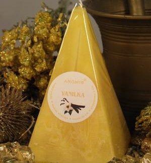 Aromatická svíčka Vanilka jehlan