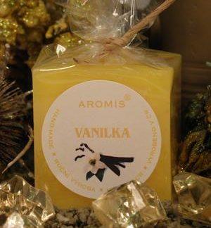 Aromatická svíčka Vanilka kostka