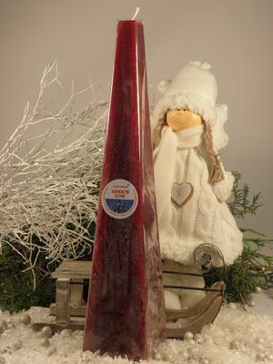 Aromatická svíčka Vánoční vůně jehlan