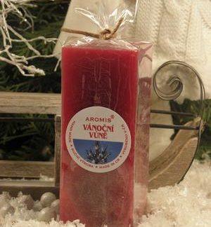 Aromatická svíčka Vánoční vůně hranol