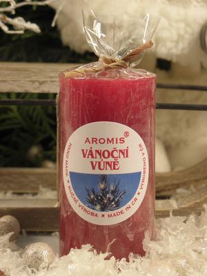 Aromatická svíčka Vánoční vůně válec