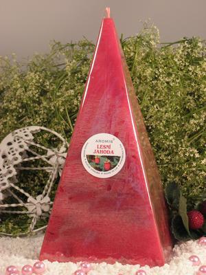 Aromatická svíčka Lesní jahoda jehlan