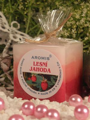 Aromatická svíčka Lesní jahoda kostka