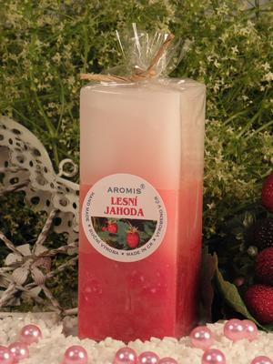 Aromatická svíčka Lesní jahoda hranol