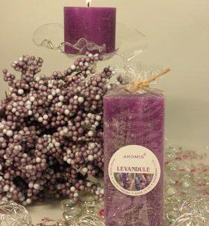Aromatická svíčka Levandule hranol