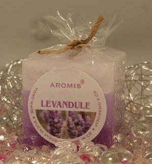 Aromatická svíčka Levandule kostka