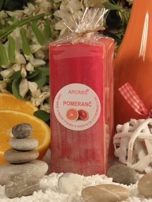 Aromatická svíčka Pomeranč hranol