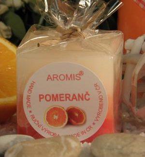 Aromatická svíčka Pomeranč kostka