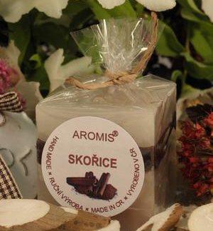 Aromatická svíčka Skořice kostka