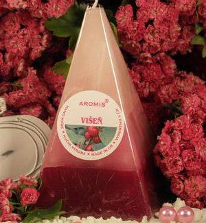 Aromatická svíčka Višeň jehlan