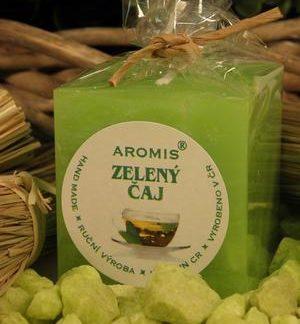 Aromatická svíčka Zelený čaj kostka