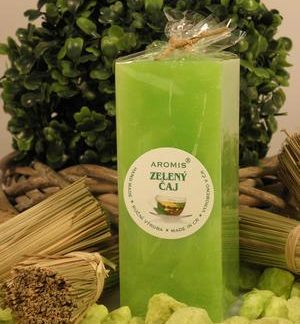 Aromatická svíčka Zelený čaj hranol