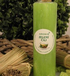 Aromatická svíčka Zelený čaj válec